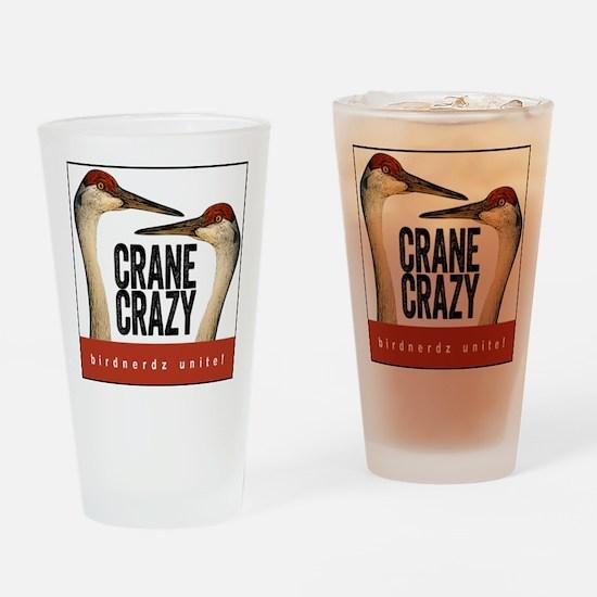 Crane Crazy Drinking Glass