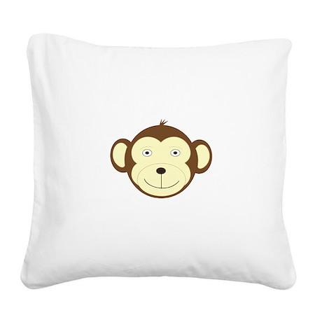 Monkey Square Canvas Pillow