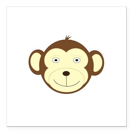 "Monkey Square Car Magnet 3"" x 3"""