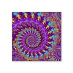 Psychedelic Purple Fractal Art Square Sticker 3