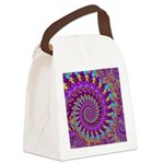 Psychedelic Purple Fractal Art Canvas Lunch Bag