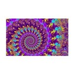 Psychedelic Purple Fractal Art 35x21 Wall Decal