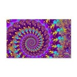 Psychedelic Purple Fractal Art 20x12 Wall Decal