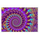 Psychedelic Purple Fractal Art Large Poster