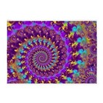 Psychedelic Purple Fractal Art 5'x7'Area Rug