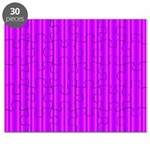Purple and Pink Stripes Pattern Puzzle