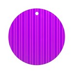 Purple and Pink Stripes Pattern Ornament (Round)