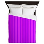 Purple and Pink Stripes Pattern Queen Duvet