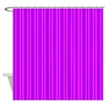 Purple and Pink Stripes Pattern Shower Curtain