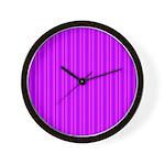 Purple and Pink Stripes Pattern Wall Clock