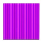 Purple and Pink Stripes Pattern Tile Coaster