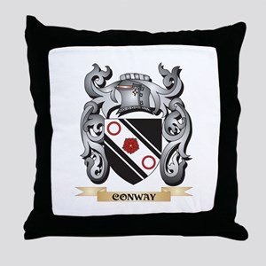 Conway Family Crest - Conway Coat of Throw Pillow