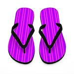 Purple and Pink Stripes Pattern Flip Flops
