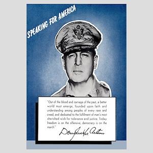 Digitally restored vector war propaganda poster wi