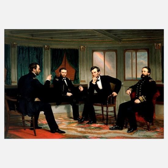Digitally restored vectorized Civil War painting o