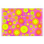 Pink Hippie Flower Pattern Large Poster