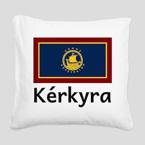 Kerkyra Square Canvas Pillow