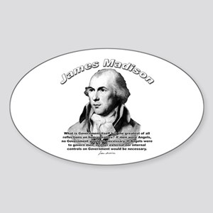 James Madison 10 Oval Sticker