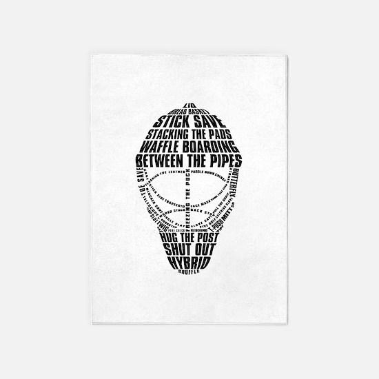 Hockey Goalie Mask 5'x7'Area Rug