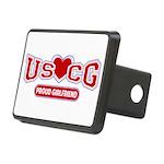 USCG Girlfriend Rectangular Hitch Cover