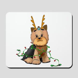Christmas Yorkie Mousepad