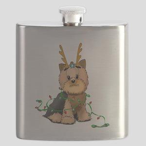 Christmas Yorkie Flask