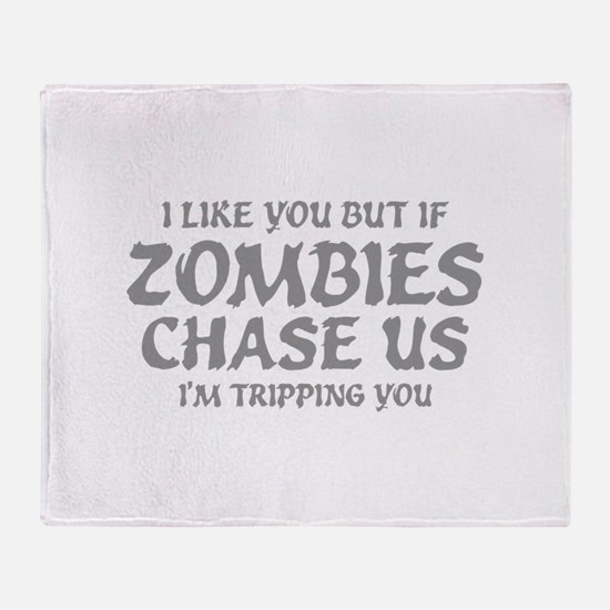 I'm Tripping You Throw Blanket