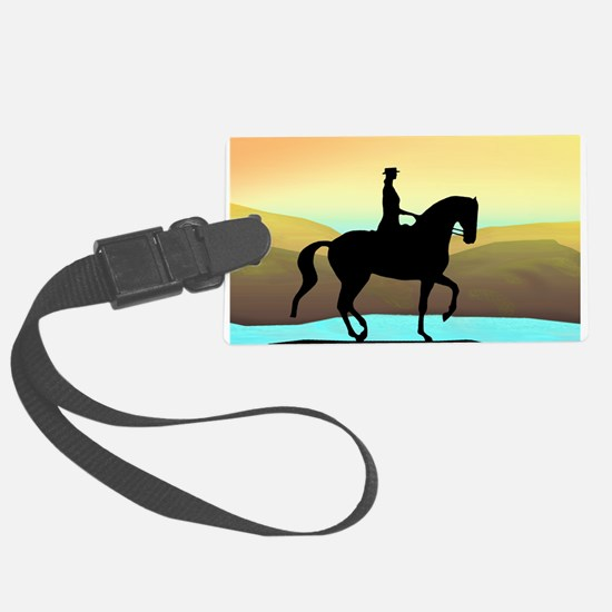 Dressage By The Sea Luggage Tag