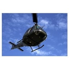 Former U.S. Air Force Bell UH-1E Huey helicopter i Poster