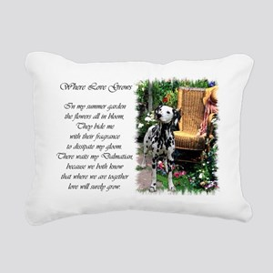 dalmatian summer garden poem Rectangular Canva