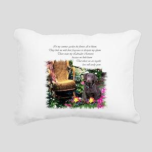 Chocolate Lab Art Rectangular Canvas Pillow