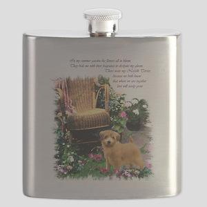 norfolk terrier garden 1 Flask