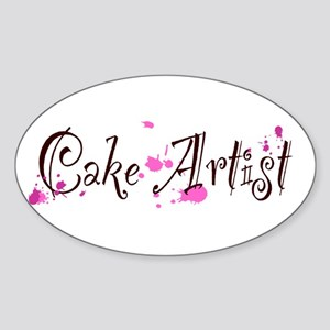 Cake Artist Sticker (Oval)
