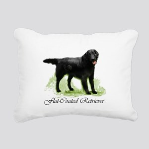 pd flatcoat square 2 Rectangular Canvas Pillow