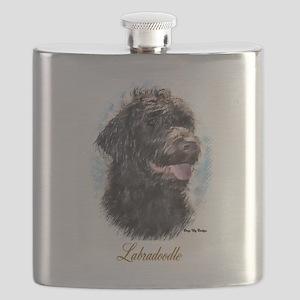 Labradoodle Art Flask