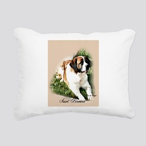 Saint Bernard Art Rectangular Canvas Pillow