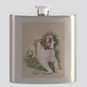 Saint Bernard Art Flask