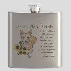 Australian Kelpie Flask