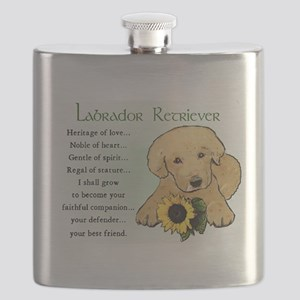 yellow lab pup heritage redo 3 Flask