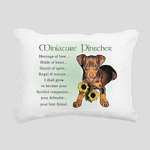 Miniature Pinscher Rectangular Canvas Pillow