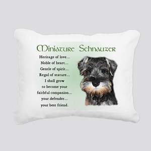 Miniature Schnauzer Rectangular Canvas Pillow