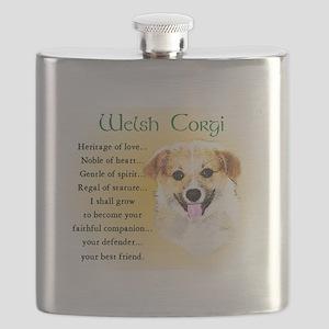 Welsh Corgi Flask