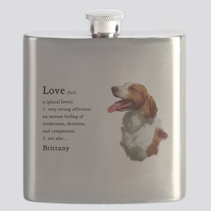 American Brittany Spaniel Flask