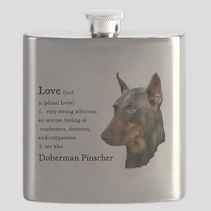 Doberman Pinscher Gifts Flask