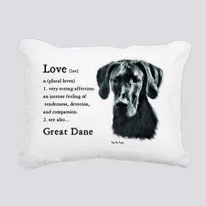 Black Great Dane Rectangular Canvas Pillow