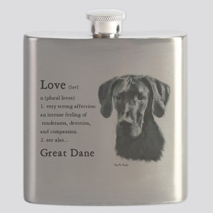 Black Great Dane Flask