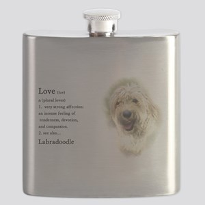 Labradoodle Love 1 Flask