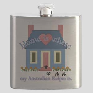 home is australian kelpie Flask
