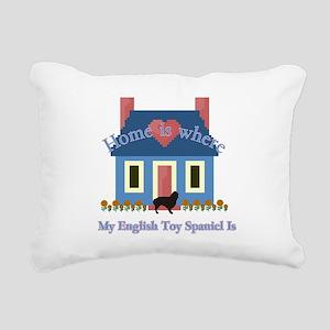 English Toy Spaniel Rectangular Canvas Pillow