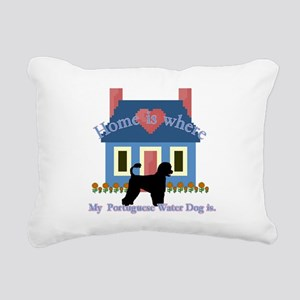 Portuguese Water Dog Rectangular Canvas Pillow